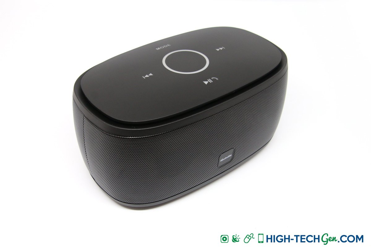 test de l 39 enceinte bluetooth techvilla f01 un monolithe puissant et tactile. Black Bedroom Furniture Sets. Home Design Ideas