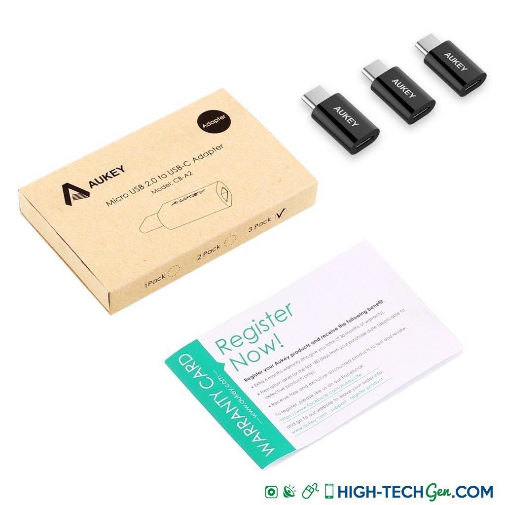 Test des adaptateurs Aukey Micro-USB vers USB Type C